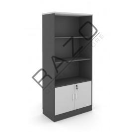 Semi Swinging Door Medium Cabinet| Office Bookcase | Office Filing Cabinet-GB741G