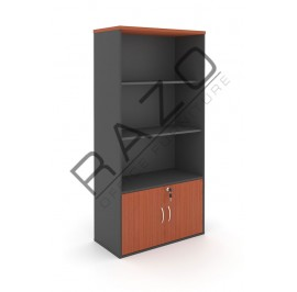 Semi Swinging Door Medium Cabinet | Office Bookcase | Office Filing Cabinet -GB741C