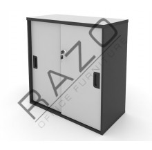 Low Sliding Door Cabinet | Office Bookcase | Office Filing Cabinet  -AS808G