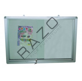 Sliding Glass Door Magnetic White Board 4' x 4'
