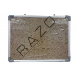 Bulletin Notice Board c/w Aluminium Frame 2' x 3'
