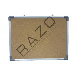 Cork Notice Board c/w Aluminium Frame 2' x 4'