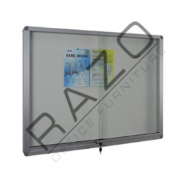Sliding Glass Door Soft Notice Board c/w Aluminium Frame 4' x 5'