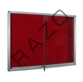 Sliding Glass Door Foam Notice Board c/w Aluminium Frame 4' x 4'