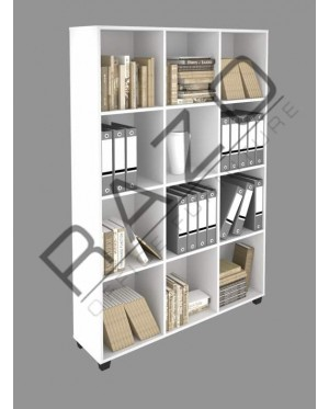 Bookcase | Cabinet | Almari Buku | Office Furniture -OR12-18(WH)