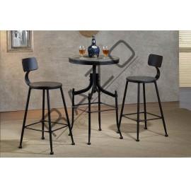 Metal High Bar Table Chair Set | Bistro | Pub  - D899T-899C