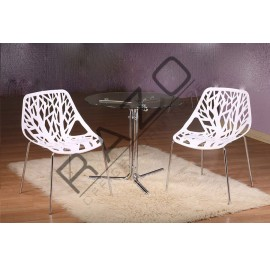 Modern Coffee Table Set | Cafe table set -D850T-845C-W