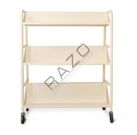 Mobile Book Trolley 3 Tiers MBT902