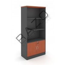 Semi Swinging Door Medium Cabinet | Office Bookcase | Office Filing Cabinet -GB741BC