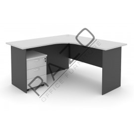L shape Writing Table | Office Table  | Office Furniture -GL1515-GM3G