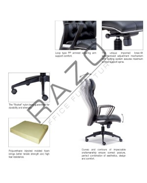 Low Back Executive Chair | Office Chair -E2523H