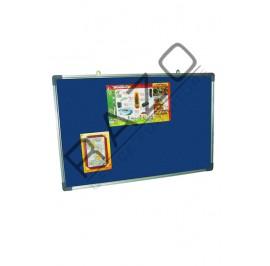 Velvet Notice Board c/w Aluminium Frame 3' x 3'