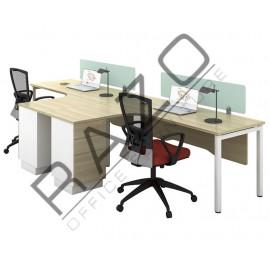 L Shape 2 Slot Workstation | Office Partition Workstation -SWL1815-S