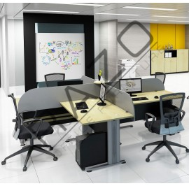 4 Partition Team Workstation | Office Partition Workstation -T2-TT158