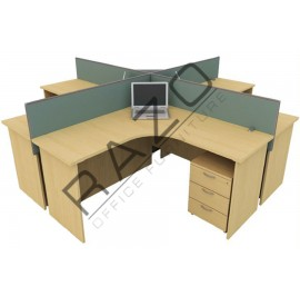 4 Partition Team Workstation | Office Partition Workstation -CL418A