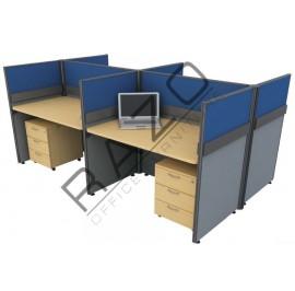 4 Partition Team Workstation | Office Partition Workstation -CL430A