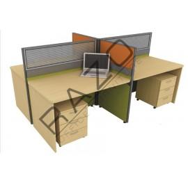 4 Partition Team Workstation | Office Partition Workstation -CL430B