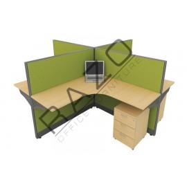 4 Partition Team Workstation | Office Partition Workstation -CL460A