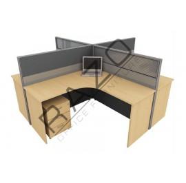 4 Partition Team Workstation | Office Partition Workstation -CL460B