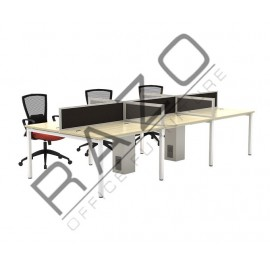 6 Partition Team Workstation | Office Partition Workstation -W1275