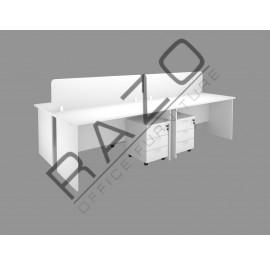 4 Partition Team Workstation | Office Partition Workstation -FM-1870W