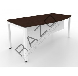 D shape Writing Table | Office Table  | Office Furniture -MUW1890W